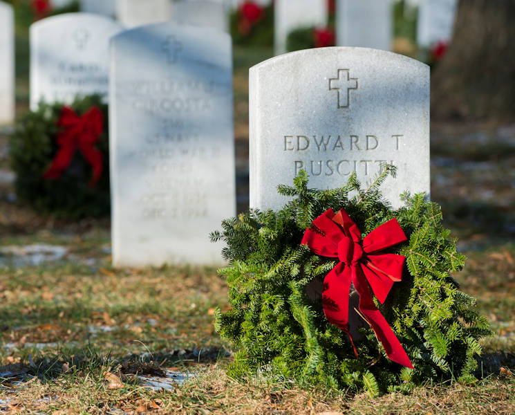 December 16, 2017 (Arlington National Cemetery) - The headstone of Edward Ruscitti, who risked his life as a 23-year-old staff sergeant to take out an enemy machine gun position amidst a flurry of bullets and artillery during a World War II battle in the Netherlands. (U.S. Army photo by Sean Kimmons)