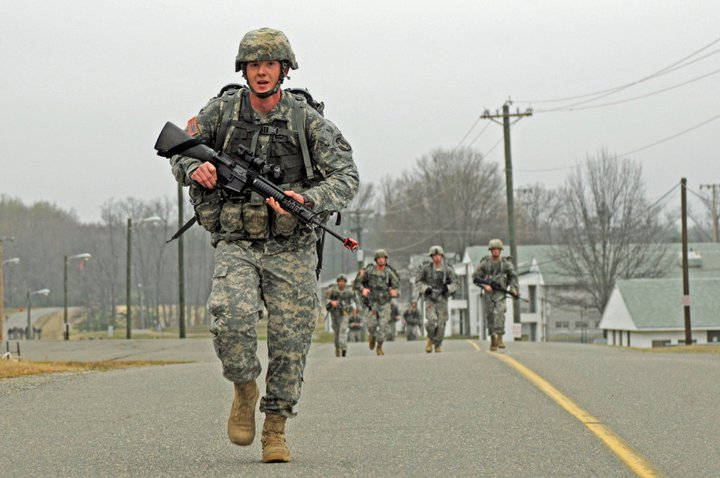 April 2017 - The Army is looking to have an Expert Action Badge, similar to the Expert Infantryman Badge and Expert Field Medical Badge, that would allow Soldiers to validate their skills and boost readiness across the force. Some of the requirements in the competition could include a 12-mile foot march to be finished under three hours while carrying a load of 35 pounds; a physical fitness test with 80 percent in each category in their respective age group; and being able to locate three out of four land navigation points within two hours. (U.S. Army photo by Staff Sgt. Adora Gonzalez)