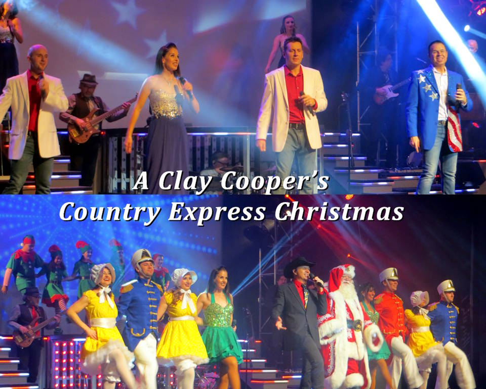 While the Clay Cooper's Country Express show is a must experience whenever you visit Branson, Missouri ... it is especially so during the Branson's Veterans Week during November ... as shown in these scenes from the show in November 2019. And every show includes honoring active troops, military veterans, and first responders. (Image and photos by USA Patriotism!)