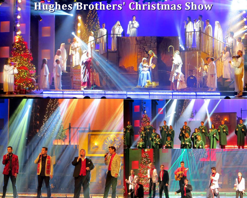 "November 11, 2019 - The very entertaining Hughes Brothers Show in Branson, Missouri ... is all about family ... as captured in the scenes from their Christmas show during Branson's Veterans week in November. Talent abounds in every one of the Hughes Brothers families with several of their children having little ones of their own ... literally ""setting the stage"" for another gifted Hughes generation! (Image and associated photos by USA Patriotism!)"
