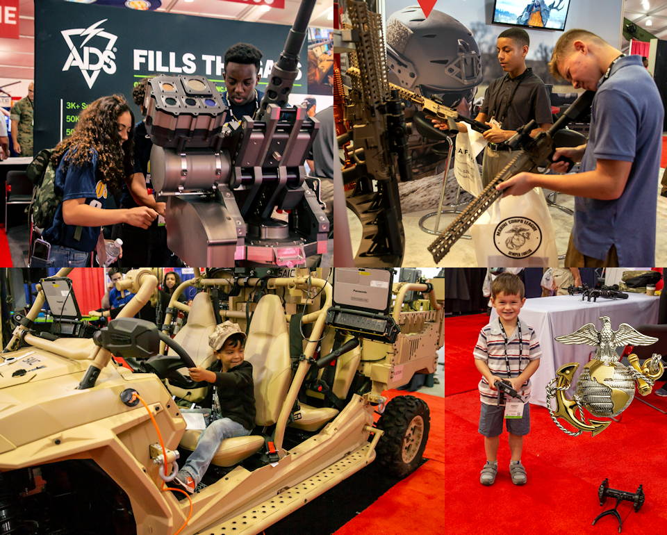 September 19, 2019 - The 2019 Modern Day Marine Expo hosts Marines, fellow servicemembers, and their family members along with Department of Defense employees, and civilian guests to examine the new military equipment being shown on Marine Corps Base Quantico, Virginia. The Modern Day Marine Expo showcases new premier military equipment, systems, services and technology that can be purchased to support the military in the future. (Image created by USA Patriotism! from U.S. Marine Corps photos by Lance Cpl. Yuritzy Gomez)
