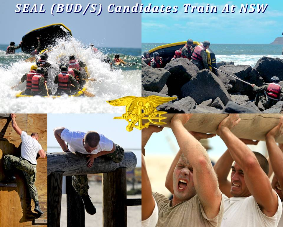 "May 21, 2020 - Basic Underwater Demolition/SEAL (BUD/S) candidates train at Naval Special Warfare (NSW) Center in Coronado, California. The training includes ... pass the surf zone in an inflatable boat; a rock portage evolution; the ""Spider Wall"" obstacle; negotiating over an obstacle; and, strength endurance conditioning. (Image created by USA Patriotism! from U.S. Navy photos by Mass Communication Specialist 1st Class Anthony W. Walker.)"