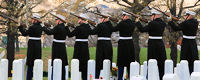 21 Gun Salute by U.S. Marines Honor Guard