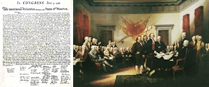 Declaration of Independence and the Founding Fathers who signed it