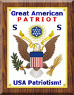 Great American Patriot Badge Sample - small