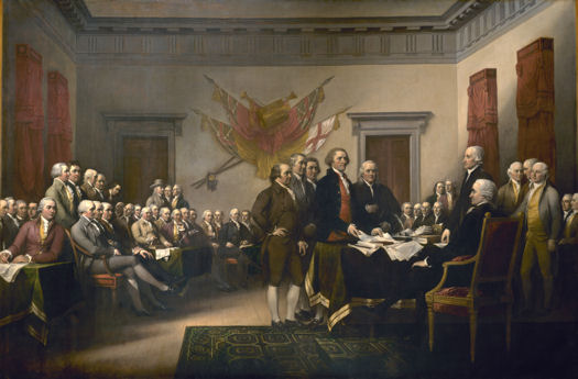 John Trumbull's painting depicting the drafting committee of the Declaration of Independence