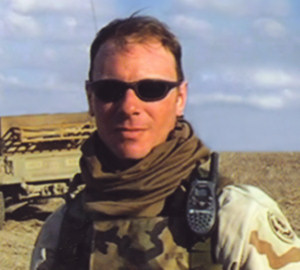 Patrick Tainsh in Iraq