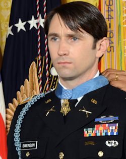 Medal of Honor recipient Captain William Swenson