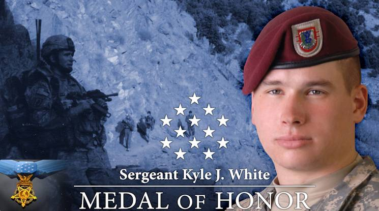 Retired U.S. Army Sergeant Kyle White, Medal of Honor Recipient