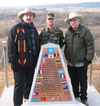 Bellamys with troop in South Korea (DMZ) - 2004