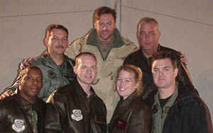 Group picture of Darryl and troops during Uzbekistan, Baghram, Afghanistan and Kuwait tour, December 2002