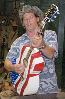Ted Nugent performing for troops in Iraq - 2004