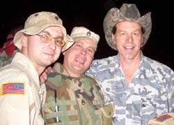Ted Nugent with troops in Iraq - 2004