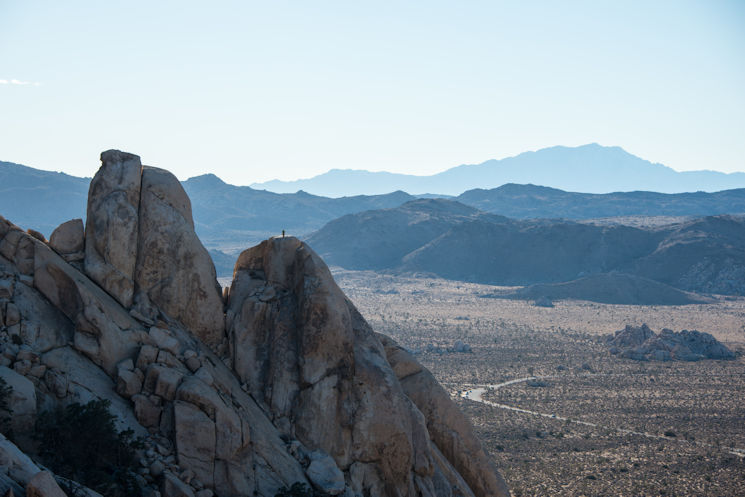 February 25, 2015 - A rock climber on the Saddle from Ryan Mountain Trail in the Joshua Tree National Park. (National Park Service photo by Lian Law)