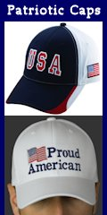 USA Flag and other American Theme Caps and Hats